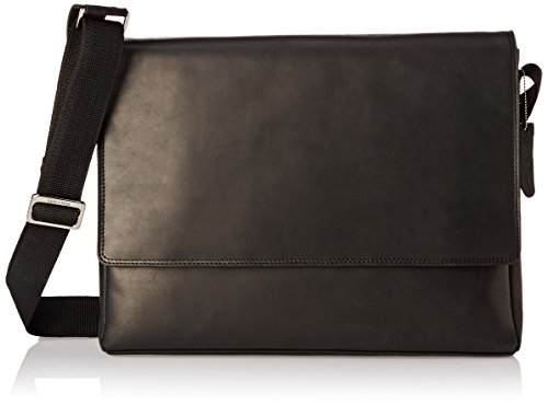 Visconti Distressed Leather Messenger Bag-3/4 Flapover, Oil