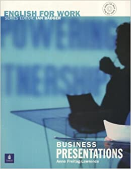 english for work business presentations book and audio cd general