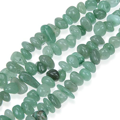 Top Quality Natural Green Aventurine Gemstones Smooth Pebble Beads Center Drilled Free-form Loose Beads ~10x8mm beads (~16