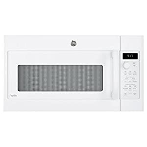 GE PVM9179DKWW Profile 1.7 Cu. Ft. White Over-the-Range Microwave - Convection