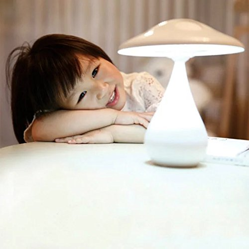 Desk Table Mushroom Lamp Air Purified 48 LED USB Night Light Rechargeable Energy-Saving Book Light,Touch Sensor Adjustable Brightness Health Anion Anti-radiation Mushroom Accent Lamp