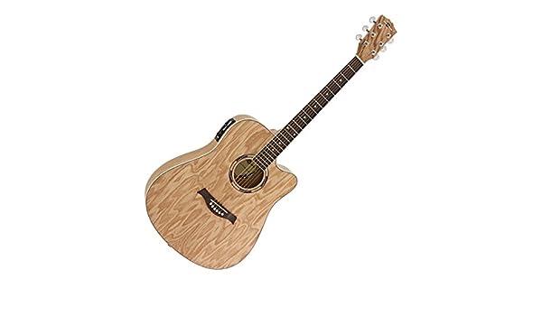 Guitarra Electroacustica Deluxe de Musica Callejera con Caja de ...