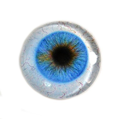 30mm Blue Glass Eye Human Design with Whites for Taxidermy Art Doll Sculptures or Jewelry Making - Art Sculpture Doll