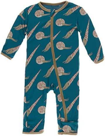 KicKee Pants Print Coverall with Zipper (3T, Cephalopods)
