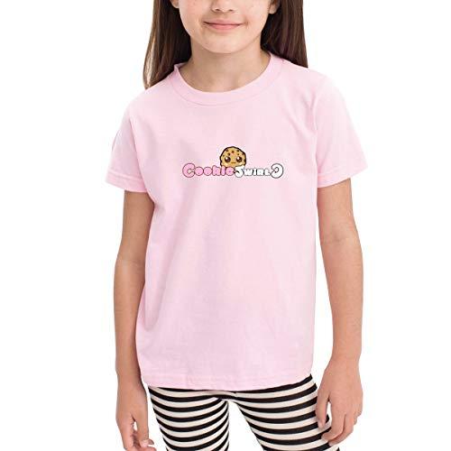 Halloween Cookie Swirl C (Quxueyuannan Children's T-Shirt, Cookie Swirl Pattern Shirt Short Sleeve Cotton Graphic Tee for Girls Boys Kids)
