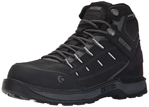 Wolverine Men's Edge LX Nano Toe-M, Black/Grey, 7.5 M US