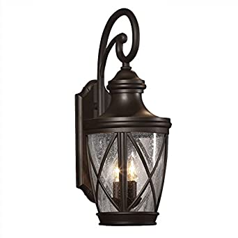 Allen + Roth Castine 23.75 In H Rubbed Bronze Outdoor Wall Light