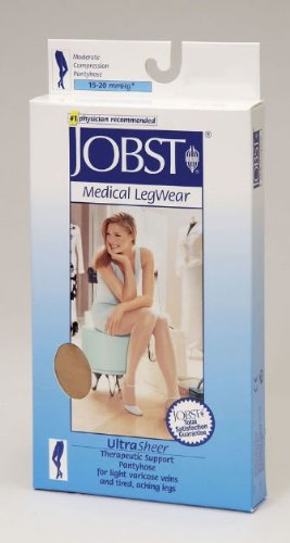 Jobst 119359 Ultrasheer Pantyhose 15-20 mmHg Moderate Support - Size & Color- Suntan Large B071H3GB5R
