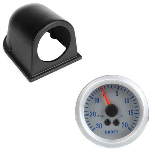 SODIAL(R) Turbo Boost / Vacuum Gauge Meter for Auto Car 2' 52mm 0~30in.Hg / 0~20PSI Orange Light With Single Gauge Meter Pod Holder 092036
