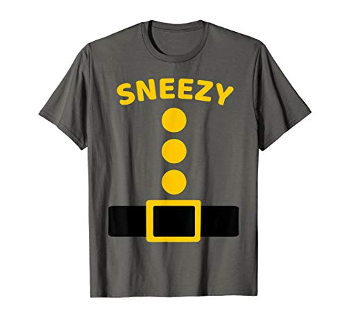 (Sneezy Dwarf Costume Multicolor Shirt Funny Halloween)
