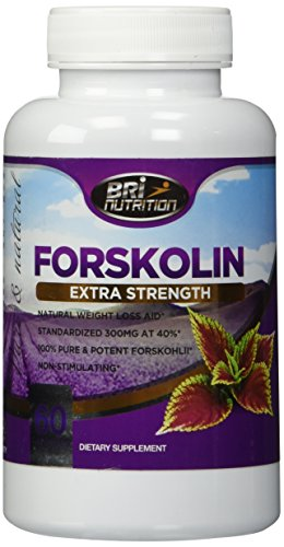 Strongest Forskolin On The Market - 300mg with 40% Forskolli - Clinical Strength 60 Day Supply - 60ct By BRI Nutrition