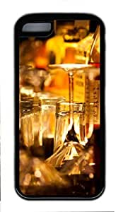 Black Case,Fashion Cool Art Scotch And Water Protective Soft PC Back Case Cover for iphone 5C (Black)