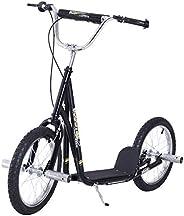 "HOMCOM Teen Kick Scooter Kids Children Stunt Scooter Bike Bicycle Ride On 16"" Pneumatic Tyres"
