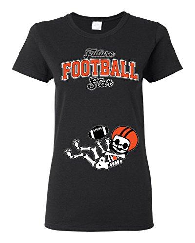 Future Football Star Cincinnati Football Ladies (not Maternity) DT T-Shirt Tee (XXX-Large, Black)