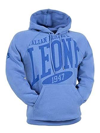 Leone 1947 Blue Round Neck Hoodie & Sweatshirt For Unisex