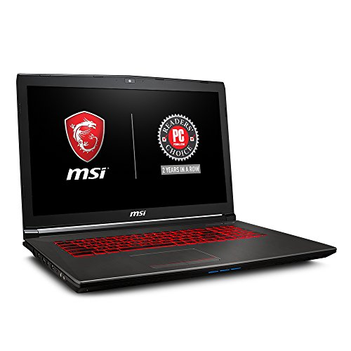 MSI GV72 8RE-007 17.3″ Thin and Light Gaming Laptop GTX 1060 3G i7-8750H (6 Cores) 16GB 256GB SSD + 1TB Windows 10, VR Ready, Windows 10 64 bit