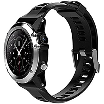 H1 Smart Watch MTK6572 IP68 Waterproof 1.39inch 400400 GPS Wifi 3G Heart Rate Monitor 4GB+512MB For Android IOS Camera 500W (silver)
