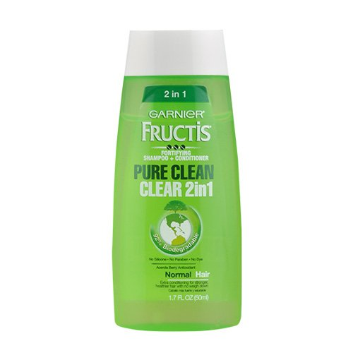 Fortifying 2in 1 Shampoo Conditioner ((3 PACK) GARNIER Fructis Fortifying Shampoo+Conditioner Pure Clean Clear 2 in 1 1.7oz)