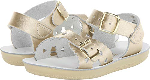 Salt-Water Style 1400 Sun-San Sweetheart Sandal,Gold,13 M US Little Kid -