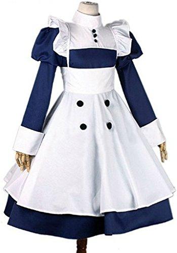 Mey Rin Cosplay Costume (Mxnpolar Black Butler Mey Rin Maid Dess Cosplay Costume M)