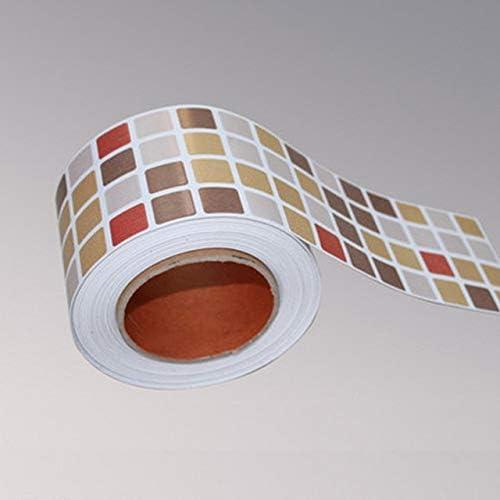 Amazon Com Classical Mosaic Stickers Vinyl Waterproof Waistline Self Adhesive Wallpaper For Kitchen Bathroom Tiles Pvc Wall Sticker Borders Color Pc12 Dimensions 10cmx5m Home Kitchen