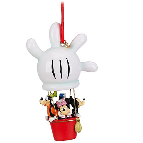amazoncom disney store mickey mouse clubhouse balloon christmas sketchbook ornament figurine with mickey mouse minnie mouse donald duck and goofy home