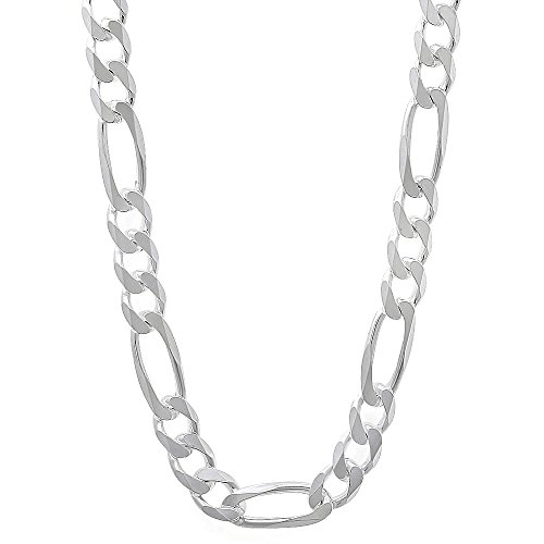 5.6mm 925 Sterling Silver Nickel-Free Figaro Link Chain, 24