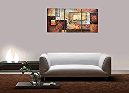 Mon Art Contemporary Art Abstract Paintings Reproduction Canvas Framed Canvas Wall Art for Home Decor 3 panels Wall Decorations For Living Room Bedroom Office Each Panel Size 12x16inch