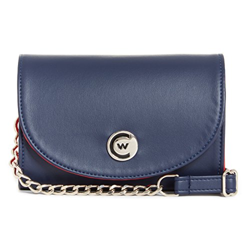Handbag Chain Crossbody Navy Stadium Compliant Women Red silver Clutch qnP4wIF7Wn