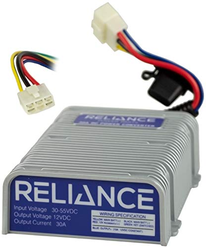 Reliance 36V or 48V to 12V Golf Cart Voltage Reducer (DC Converter) - 30 Amp