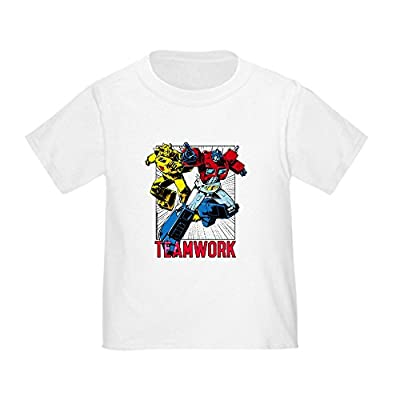 CafePress Transformers Teamwork - Cute Toddler T-Shirt, 100% Cotton