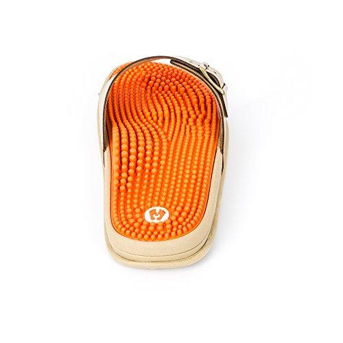 Revs Die Reflexzonen Massagesandale für Frauen Elfenbein Orange