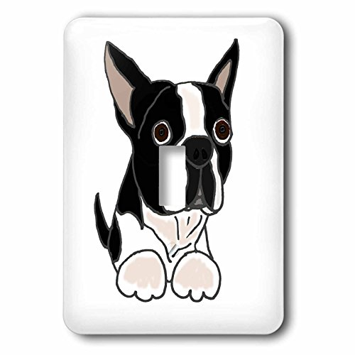 3d Rose 3dRose lsp_216347_1 Cute Boston Terrier Puppy Dog...