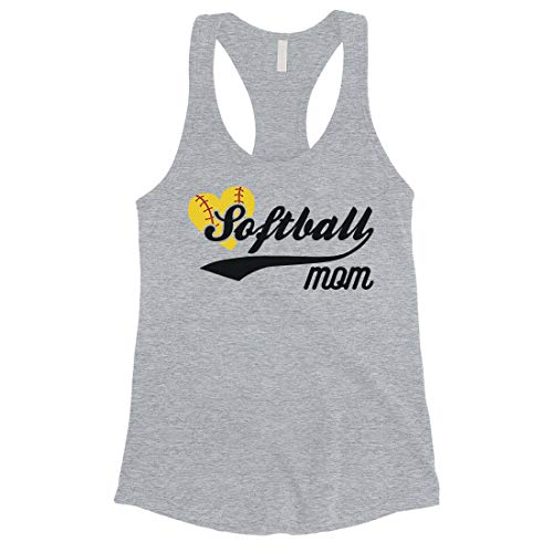 365 Printing Softball Mom Tank Top Womens Racerback Sleeveless for Mom (XX-Large) Grey
