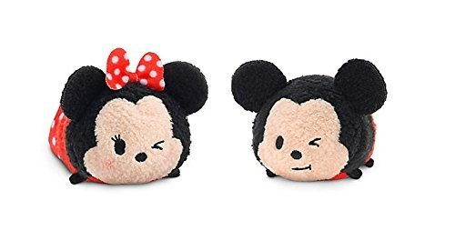 Disney Exclusive Mickey and Minnie Mouse Tsum Tsum Plush Set