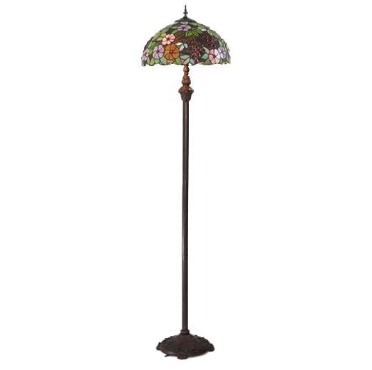 Yjmgrowing Lámpara de pie Estilo Tiffany con lámpara de Lectura de ...
