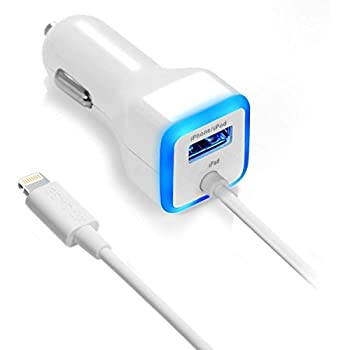 Car Charger, [Apple MFI Certified] by GemDox for Fast Car Charging Compatible with iPhone 11, Xs max/XR/x/8/7/6s, iPad Air 2/Mini 3, Note 9/Galaxy ...