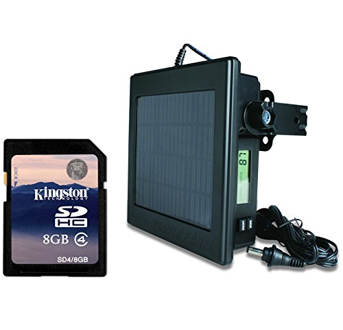 NEW! MOULTRIE FEEDERS Game Camera 12 Volt Solar Power Panel + 8GB SD Memory Card