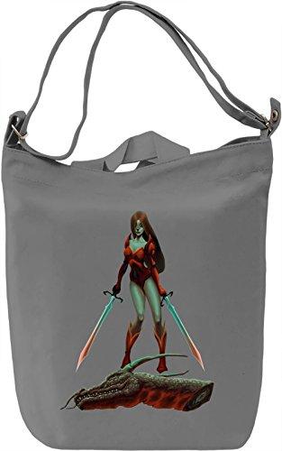 Warrior girl Borsa Giornaliera Canvas Canvas Day Bag| 100% Premium Cotton Canvas| DTG Printing|