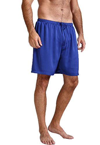 Mens Silk Satin Pajamas Pyjamas Shorts Lounge Beach Shorts Boxer Invy S (Lounge Adult Shorts)
