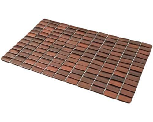 (Dark Bamboo Placemat Table Mat Set, 18 1/2 Inch, Set of 2)