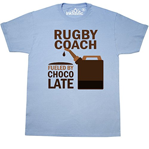 inktastic Funny Rugby Coach T-Shirt XX-Large Light Blue (454 Rugby)