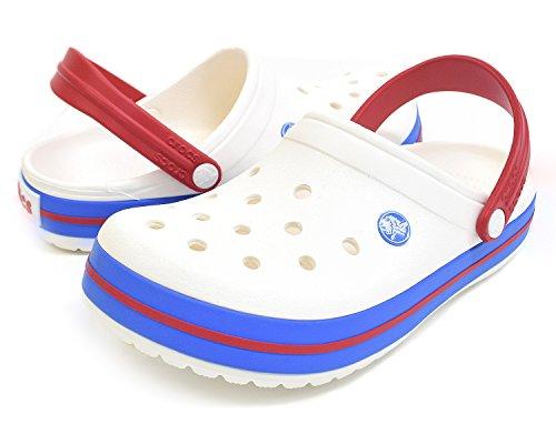 Blue Crocs Clog Crocband Varsity Mule White wwqSXpR