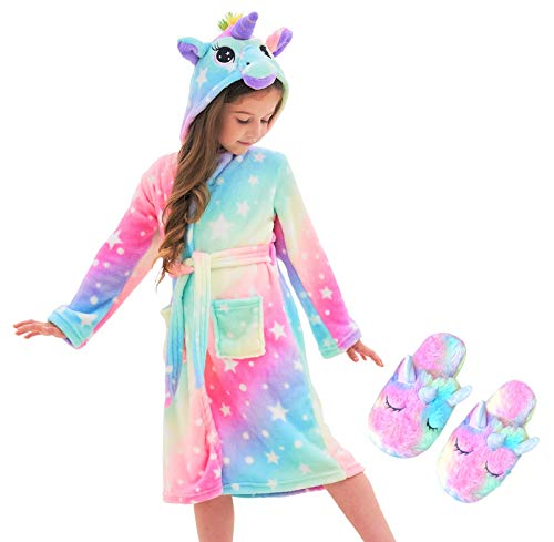 Unicorn Hooded Bathrobe Sleepwear