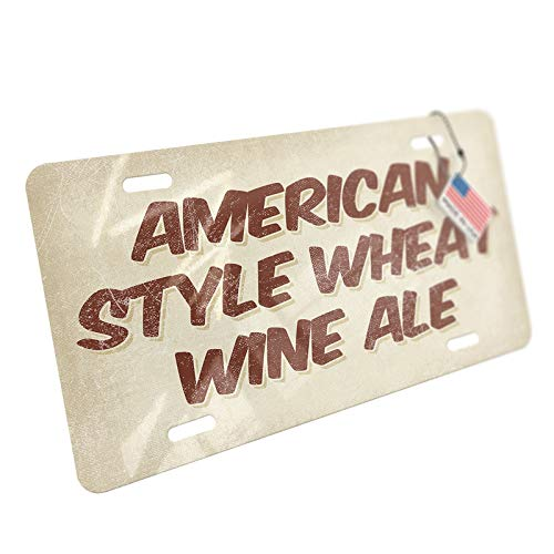 - NEONBLOND American Style Wheat Wine Ale Beer, Vintage Style Aluminum License Plate