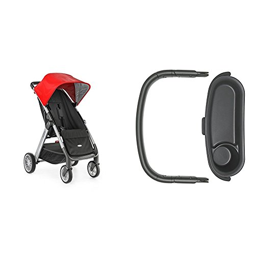OXO Tot Cubby Stroller, Red with Bumper Bar and Snack Tray