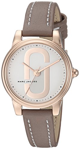 Marc Jacobs Women's 'Corie' Quartz Stainless Steel and Leather Casual Watch, Color:Brown (Model: MJ1581)