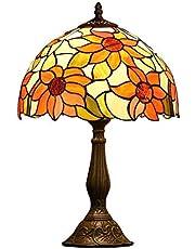 Vintage Tiffany Style Table Lamp Stained Glass Table Lights Livingroom Studyroom Bedroom Bedside Sun Flower Decoration Desk Lamps E27times;1 jsmhh
