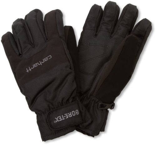 Carhartt Men's Storm Gore-Tex Windproof Waterproof Insulated Work Glove, Black, Large ()