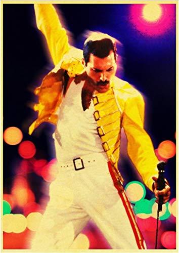 PWERWOTAM Vintage Bohemio Rhapsody Freddie Mercury Queen ...